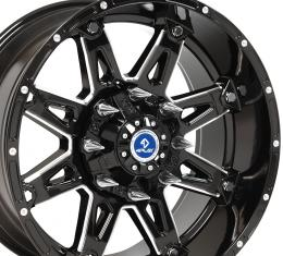 4Play Black Machined Face Custom Wheel fits GM 6-Lug 20x10