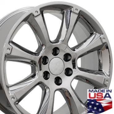 "22"" Fits Cadillac - Escalade Wheel - PVD Chrome 22x9"