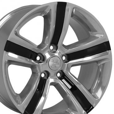 "20"" Fits Dodge - Ram 1500 Wheel - Black Machined Face 20x9"