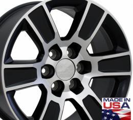 """20"""" Fits GMC - Sierra Wheel - Matte Black Mach'd Face 20x9"""