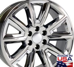 "22"" Fits Chevrolet - Tahoe Wheel - PVD Chrome with Chrome Inserts 22x9"