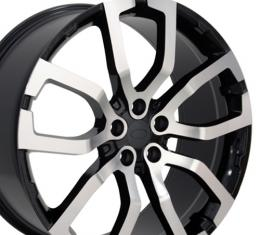 Machined Face Black Wheel fits Land Rover Range Rover 22x10