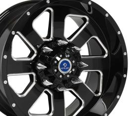 4Play Black Machined Face Custom Wheel fits Ford 8-Lug 20x10