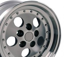Silver Machined Lip Wheel fits Jeep Wrangler 15x8