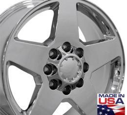 "20"" Fits Chevrolet - Silverado Wheel - PVD Chrome 20x8.5"