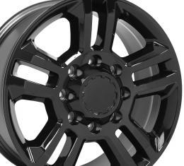 Gloss Black Truck Rims fit Chevrolet Silverado 2500/3500 - 20x8.5