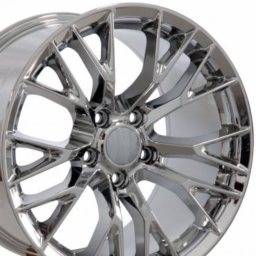 "18"" fits Chevrolet Corvette C7 Z06 Wheel Replica - Chrome 18x9.5"
