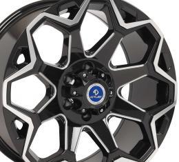 4Play Black Machined Face Custom Wheel fits GM 6-Lug 20x9