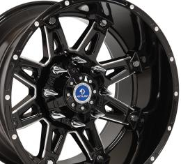 4Play Black Machined Face Custom Wheel fits GM 8-Lug 20x12