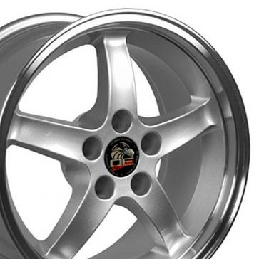 """17"""" Fits Ford - Mustang Cobra R Wheel - Silver 17x10.5"""