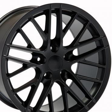 "19"" Fits Chevrolet - C6 ZR1 Wheel Replica - Satin Black 19x10"
