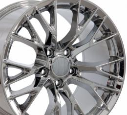 "19"" fits Chevrolet Corvette C7 Z06 Wheel Replica - Chrome 19x10"