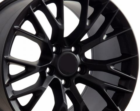 "17"" Fits Chevrolet - C7 Z06 Wheel - Matte Black 17x9.5"