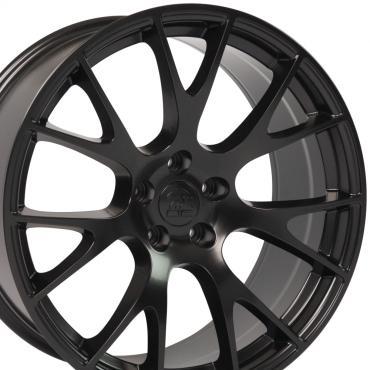"""20"""" Fits Dodge Hellcat Wheel Replica - Satin Black 20x9"""