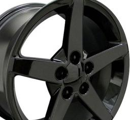 "18"" Fits Chevrolet - Corvette C6 Wheel - Black 18x9.5"