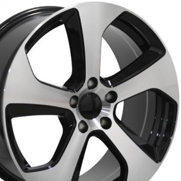 "18"" Fits VW Volkswagen - GTI Wheel - Black Mach'd Face 18x8"