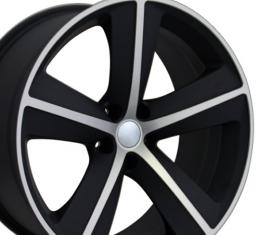 "20"" Fits Dodge - Challenger SRT Wheel - Mach'd Matte Black 20x9"