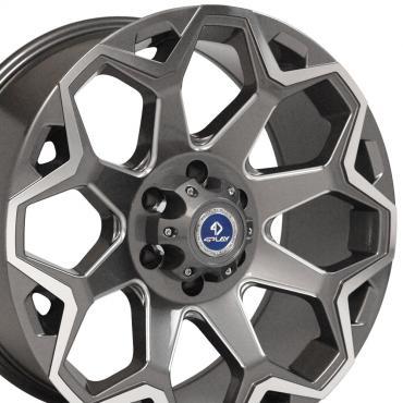 4Play Gunmetal Machined Face Custom Wheel fits Ford 6-Lug 20x9