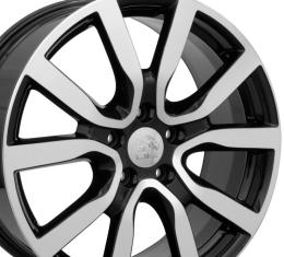 "18"" Fits VW Volkswagen - Golf Wheel - Black Mach'd Face 18x7.5"