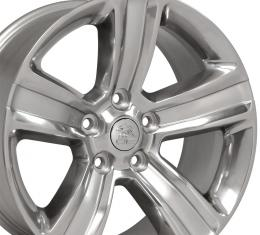 "20"" Fits Dodge - Ram 1500 Wheel - Polished w/ Silver Inlay 20x9"