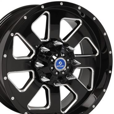 4Play Black Machined Face Custom Wheel fits Ford 6-Lug 20x9