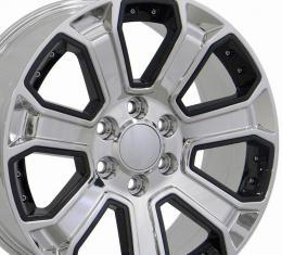 22x9 Chrome Replica Wheel fits Chevrolet Silverado