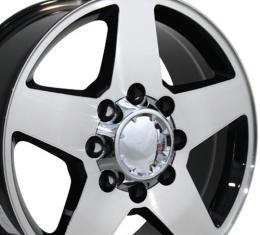 "20"" Fits Chevrolet - Silverado Wheel - Black Mach'd Face 20x8.5"