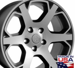 "20"" Fits Dodge - 1500 Wheel - Matte Black Mach'd Face 20x9"