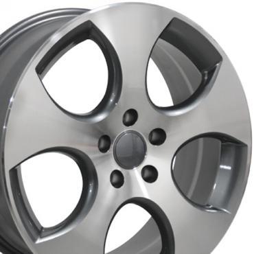 "18"" Fits VW Volkswagen - GTI Wheel - Gunmetal Mach'd Face 18x7.5"