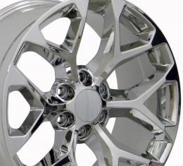 Sierra Style Chrome Replica Wheel Fits Chevrolet 22x9