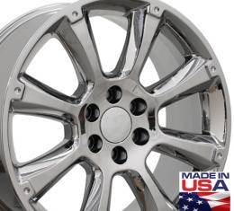 "22"" Fits Cadillac - Escalade Wheel - PVD Chrome 22x9"