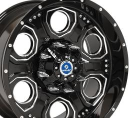 4Play Black Machined Face Custom Wheel fits GM 8-Lug 20x10