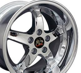 "17"" Fits Ford - Mustang Cobra R Wheel - Chrome 17x10.5"