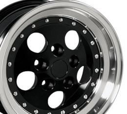 Black Machined Lip Wheel fits Jeep Wrangler 15x8