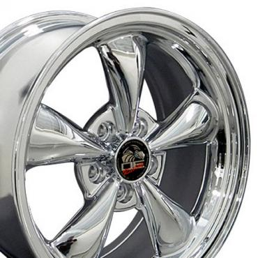 Chrome Replica Wheels fit Ford Mustang (Bullitt style) 17x8