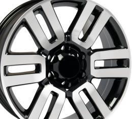 """20"""" Fits Toyota - 4Runner Wheel - Black Mach'd Face 20x7"""