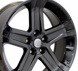 "22"" Fits Dodge - 1500 Wheel - PVD Black Chrome 22x9"