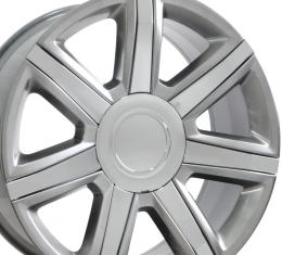 "24"" Fits Cadillac - Escalade Wheel - Hyper Silver with Chrome Insert 24x10"