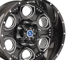 4Play Black Machined Face Custom Wheel fits GM 8-Lug 20x12