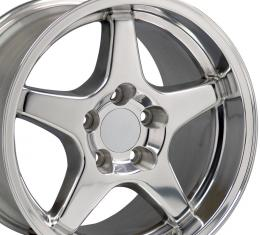 "17"" Fits Chevrolet - Corvette ZR1 Wheel - Polished 17x11"