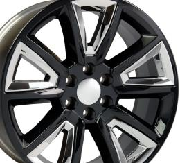 "20"" Fits Chevrolet - Tahoe Wheel - Black with Chrome Inserts 20x8.5"