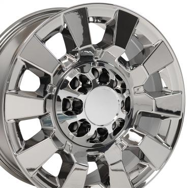 PVD Chrome Truck Rims fit GMC Sierra 2500/3500 - 20x8.5