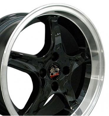 """17"""" Fits Ford - Mustang 4-Lug Cobra R Wheel - Black 17x9"""