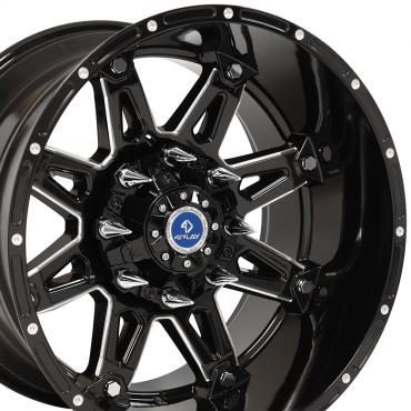 4Play Black Machined Face Custom Wheel fits GM 6-Lug 20x12