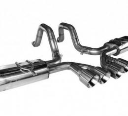 Kooks Headers 21506100, Exhaust System Kit, Exhaust System Kit Axle Back System, Stainless Steel, With Mufflers, 2-1/2 Inch Pipe Diameter, Single Exhaust With Dual Exit, Center Rear Exit, Dual Split 4 Inch Stainless Steel Tips