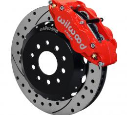 Wilwood Brakes 2005-2014 Ford Mustang Forged Narrow Superlite 6R Big Brake Front Brake Kit (Hat) 140-9109-DR