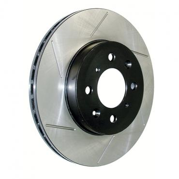 Stop Tech / Power Slot 126.66025SR, Brake Rotor, SportStop (R) Slotted, Silver E-Coated, Alloy, Single