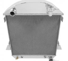 Champion Cooling 1917-1927 Ford Model T 2 Row All Aluminum Radiator Made With Aircraft Grade Aluminum EC1005