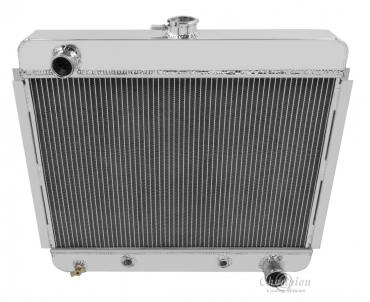Champion Cooling 1966-1967 Chevrolet Chevy II 2 Row All Aluminum Radiator Made With Aircraft Grade Aluminum EC6267