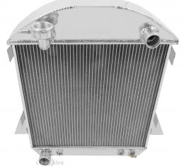 Champion Cooling 1917-1927 Ford Model T 2 Row All Aluminum Radiator Made With Aircraft Grade Aluminum EC1007
